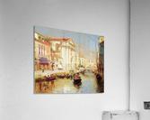 Along the Venetian Canal  Acrylic Print