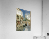 Venetian canal with the campanile of the Frari in the distance  Acrylic Print