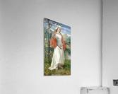 Allegorical Maiden in white dress  Acrylic Print