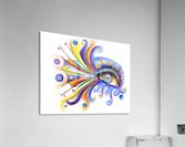 Arubissina V2 - fish eye  Acrylic Print
