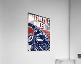 Motorcycle Racing Vintage Poster  Acrylic Print