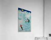 Original vintage poster ski Arosa Suisse  Acrylic Print