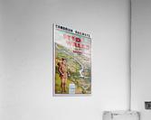 Original vintage poster golf Cambrian railways Mid Wales river  Acrylic Print
