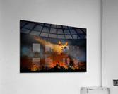 Wall of fire  Acrylic Print