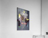 Original 1954 BOAC USA Travel Poster  Acrylic Print