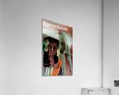Swiss Air India Travel Art Poster  Acrylic Print