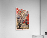 International women's day, March 8 Soviet propaganda poster  Acrylic Print