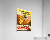 American anti Japanese propaganda from World War II  Acrylic Print