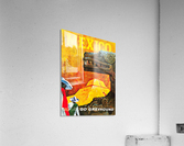Mexico Go Greyhound Travel Poster  Acrylic Print