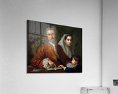 Dr Savatore Bernard with his wife and son  Acrylic Print
