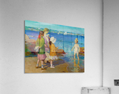 At The Beach and Cold Feet  Acrylic Print