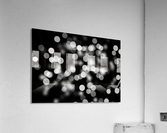 Bokeh Out Of Focus Black White Background Light  Acrylic Print