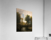 Landscape with Stream and Deer  Acrylic Print