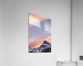 Clouds At Sunset Above Mountain Peaks, Kootenay Plains, Alberta, Canada  Acrylic Print