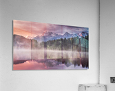 Sunrise at a Lake with Alps in the Background  Acrylic Print