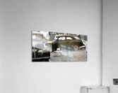 Black and White Vintage Cars  Acrylic Print