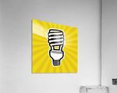 Compact Fluorescent Lightbulb  Acrylic Print