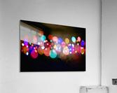 The Blur Of Coloured Lights; Edmonton, Alberta, Canada  Acrylic Print