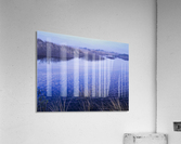 Clouds reflected in the deflection plain; Lakeside, Oregon, United States of America  Acrylic Print