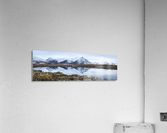 Mount Adney reflected in a pond along the Dempster Highway in the northern Yukon; Yukon, Canada  Acrylic Print