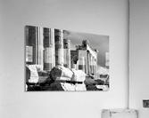 Mono piles of stones before ruined Parthenon; Athens, Attica, Greece  Acrylic Print