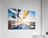 sailing into the sunset  Acrylic Print