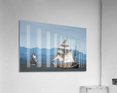 Tall ships sail on the Columbia River near Astoria; Oregon, United States of America  Acrylic Print