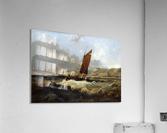 Sailing Boat off the Coast  Acrylic Print