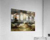 A stormy day on the sea and the lighthouse  Acrylic Print