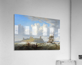 Shipping off Dunstanborough Castle, Northumberland 1844  Acrylic Print