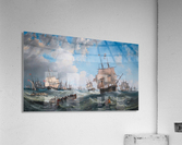 The Channel fleet in heavy weather  Acrylic Print