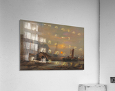 Preparation of fishing boats, Low Countries  Acrylic Print
