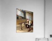 Training a small dog  Acrylic Print