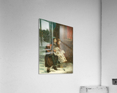 Small children with newspapers  Acrylic Print