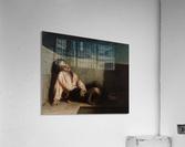 A boy sleeping on the London bridge  Acrylic Print