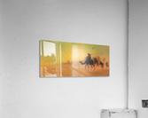 Caravan traveling in the desert  Acrylic Print