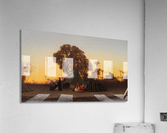 Arab encampment at sunset  Acrylic Print