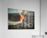 Lava Entering the Ocean  Acrylic Print