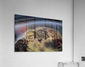aerial view of planet citrrus rings  Acrylic Print