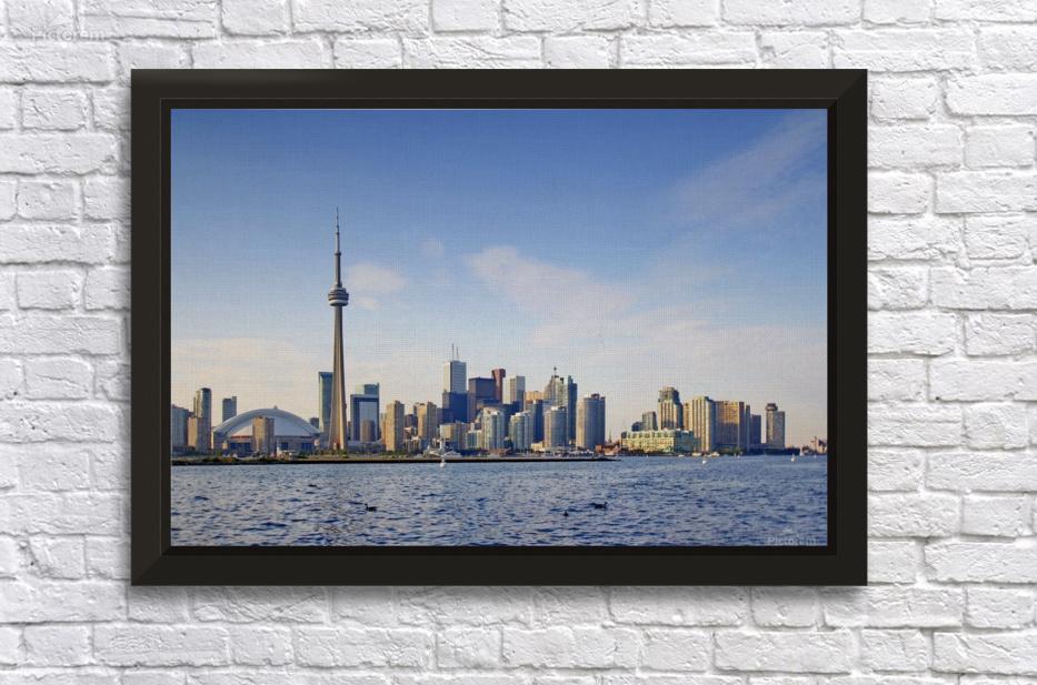 downtown wall d\u00e9cor print Digital photo art Ontario the other side of the pond Toronto Islands City of Toronto