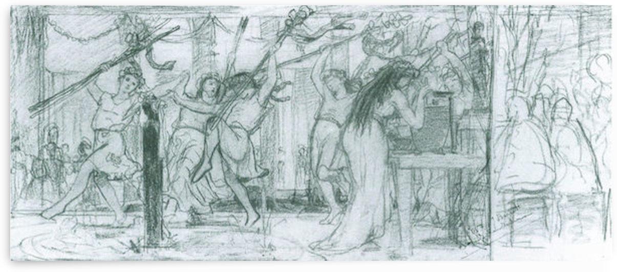 The Grape Harvest Festival, sketch by Alma-Tadema by Alma-Tadema