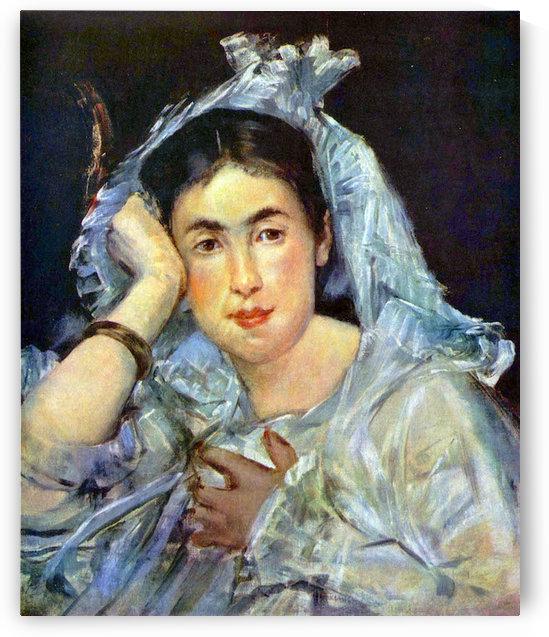 Portrait of Marguerite de Conflans by Manet by Manet