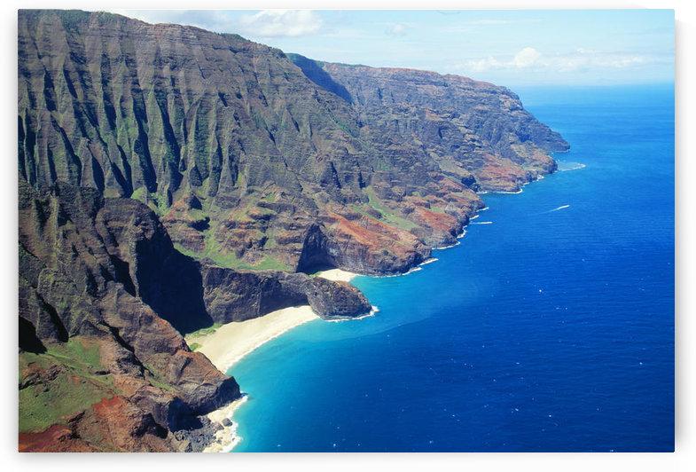 Hawaii, Kauai, Napali Coast Aerial Along Rugged Cliffs by PacificStock