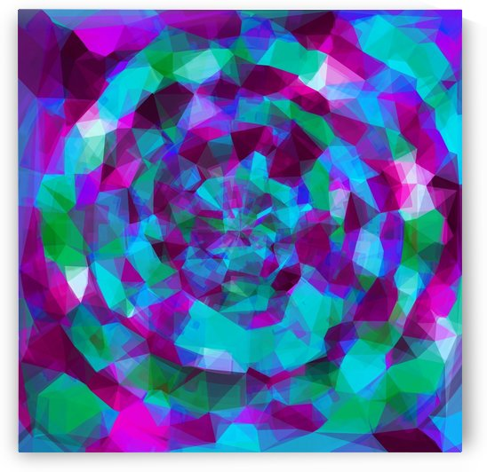 psychedelic geometric polygon pattern abstract in pink purple blue by TimmyLA