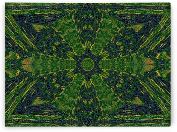 Green Flower 2 by Sherrie Larch