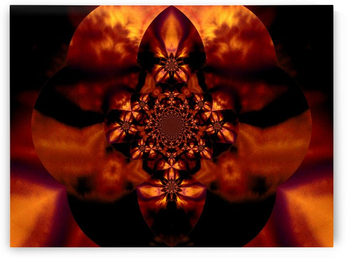Fire Orchid 1 by Sherrie Larch