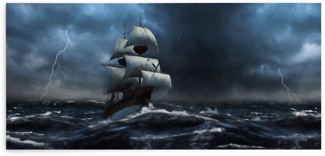 Stormy Seas by Jordan Blackstone by Jordan Blackstone