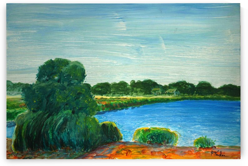 Green Trees by Pracha Yindee