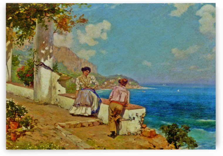 Courting couple in Naples by Carlo Brancaccio