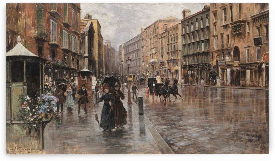 Napoli, Via Toledo by Carlo Brancaccio